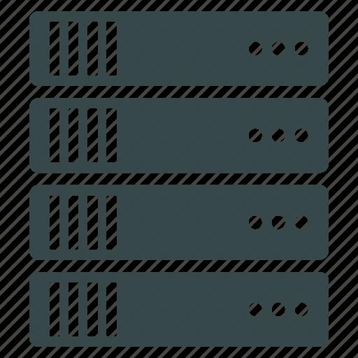 data center, database, hosting, rack, repository, server, storage icon