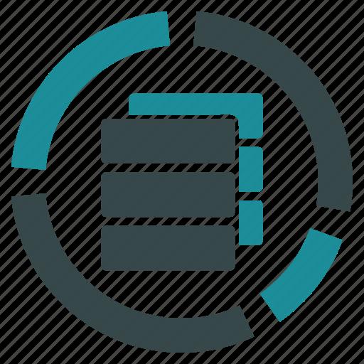 analytics, databases, diagram, graph, infographic, presentation, statistics icon