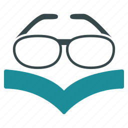 book, education, knowledge, learning, spectacles, study, vision icon