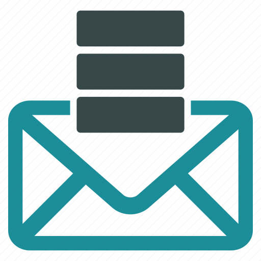 communication, database, email, envelope, letter, mail, message icon