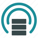 communication, data source, database, media, news, power shield, protection icon