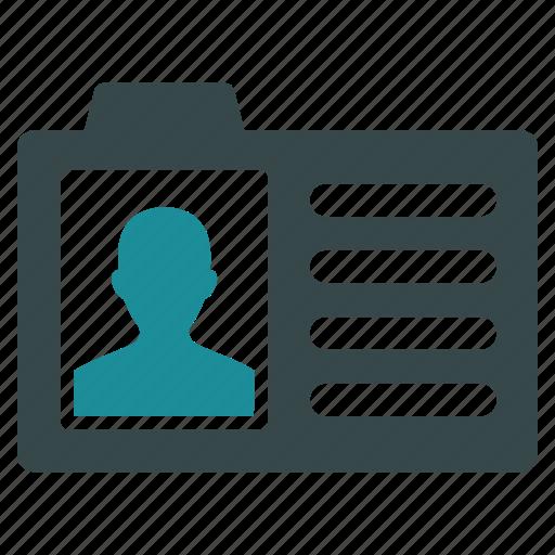 account card, account profile, case record, data, info, information, user data icon