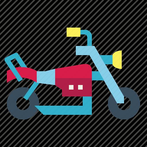 chopper, motorcycle, transportation, vehicle icon