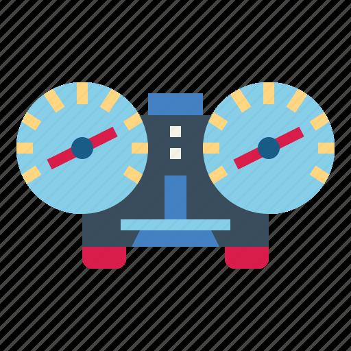 dashboard, speedometer, transportation, velocity icon