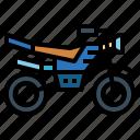 bike, enduro, motocross, transport icon