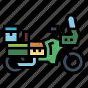 bike, motorcycle, touring, transport icon