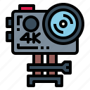 action, camera, gopro, photography, technology icon