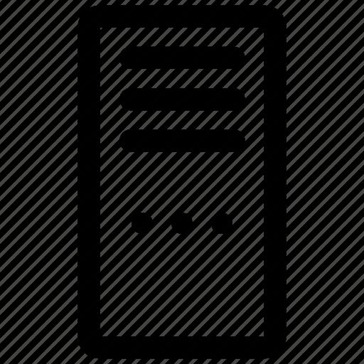 center, data, network, pc, rack, server icon icon