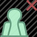 binder, delete attachment, office icon