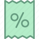 discount, finance, offer, sale, save, tax icon