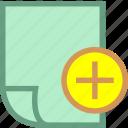 attachment, document, file, office, paper icon