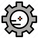 chemistry, gear, lab, setting icon