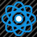 atom, biochemistry, chemistry, laboratory icon