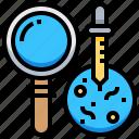 analysis, biochemistry, biology, chemistry, dish, petri, science icon
