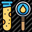 biochemistry, biology, blood, chemistry, laboratory, science, test icon