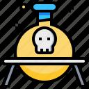 biochemistry, biology, chemistry, dangerous, laboratory, science icon