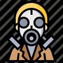 biochemistry, biology, chemistry, gas, laboratory, mask, science icon
