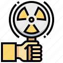 biochemistry, biology, chemistry, dangerous, radiation, science, warning icon