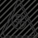 radiation, warning, nuclear, radioactive