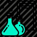 bigger, biochemistry, biology, chemistry, laboratory, science icon