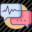 bioethics, conversation, debate, dictation, discussion, speech, speech bubble icon