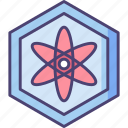 atom, atomic, biotechnology, cell, cellular, molecule icon