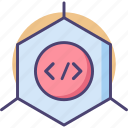 cell, cellular, code, coding, reprogramming icon