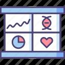 analysis, biology, chart, computational, graph, research, statistics icon