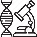 bioengineering, biology, biomaterials, dna, experiments, nature, science icon