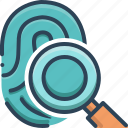 fingerprint, fingerprint scan, identification, scan, verification icon