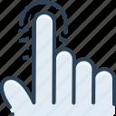biometric, finger, fingerprint, identification, identity, scanning, security icon