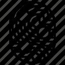 unique, points, scan, finger, figer, fingerprint icon