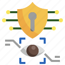 biometric, data, security, eye, recognition, scan