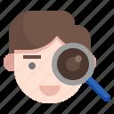 retina, recognition, eye, scanner, miscellaneous icon