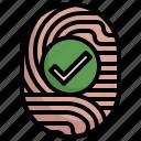 fingerprint, matched, suspicious, criminal, scan, figer icon