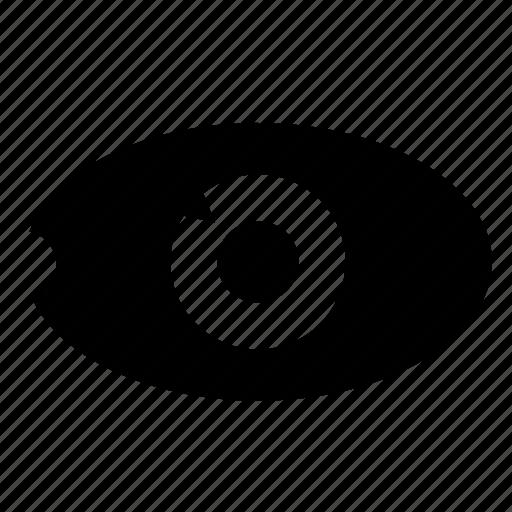 biometric, data, eye, identity, pupil, scan icon