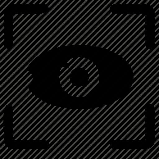 biometric, detect, eye, identity, scan icon