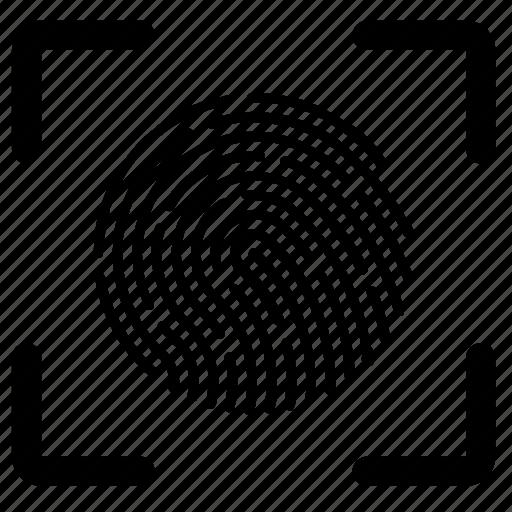 biometric, data, detect, finger, fingerprint, scan icon