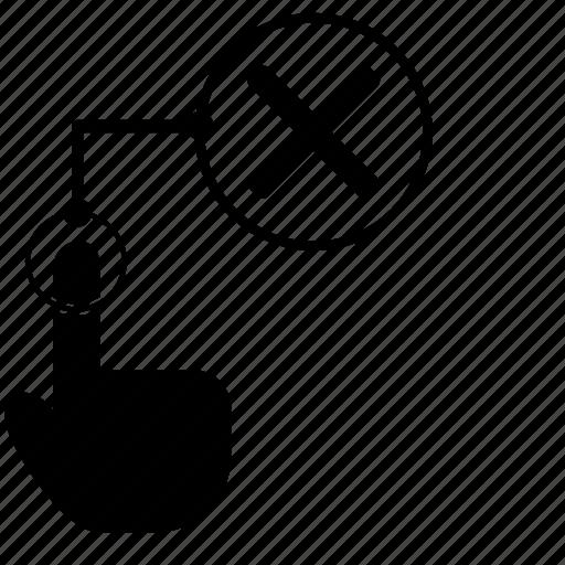 access, cancel, close, dactylogram, finger, fingerprint, scan icon