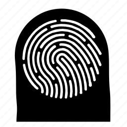 biometric, data, fingerprint, identity icon