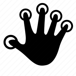 dactylogram, finger, fingerprint, hand, identity, scan icon