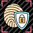 authorization, biometric, fingerprint, identification, scanning, security