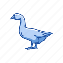 animal, beak, bill, bird, emden goose, goose, waterflow icon