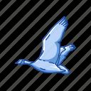 animal, bird, canada goose, feather, goose, water bird, waterfowl icon