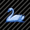 animal, bill, bird, domestic duck, duck, waterfowl, webbed feet icon
