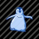 animal, animal aquatic bird, baby penguin, bird, flippers, penguin
