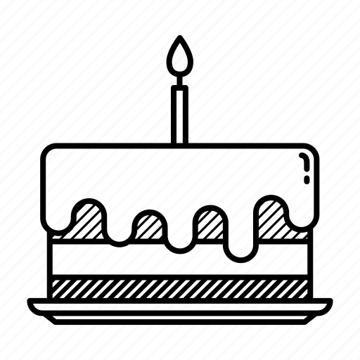 birthday cake, birthday candle, cake, candle, candy, celebration, party icon