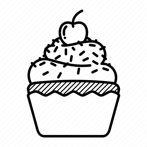 bakery, birthday, cupcake, food, muffin, party, sugar icon