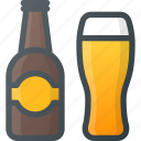alcoholic, beer, beverage, birthday, bottle, celebration, party icon