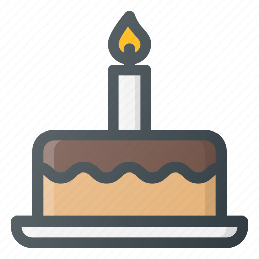 birthday, cake, celebration, dessert, party icon